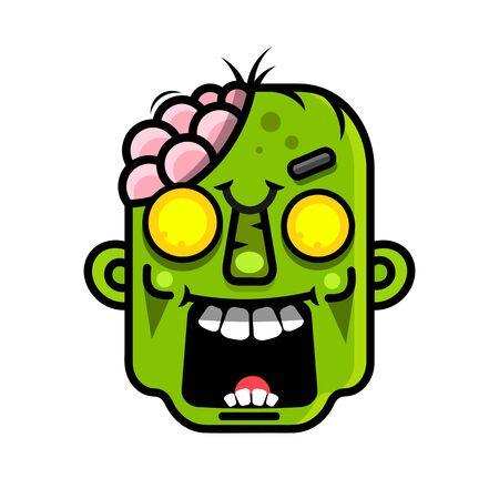 Cartoon Zombie.Vector Illustration Suitable For Greeting Card, Poster Or T-shirt Printing.