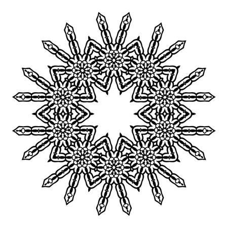 Mandala. Ethnic decorative elements. Hand drawn background. Islam, Arabic Indian ottoman motifs