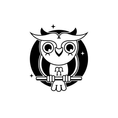 Owl  Template Vector Illustration Suitable For Greeting Card, Poster Or T-shirt Printing. 向量圖像