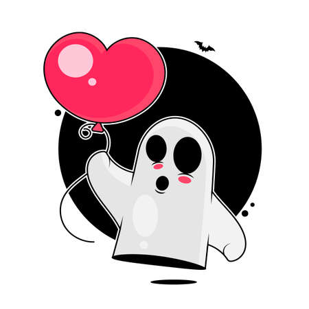 Ghost Vector illustration Isolated Background For Your Needs happy Halloween