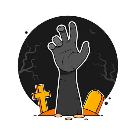 zombie hand from hell. undead hand - vector illustration 向量圖像