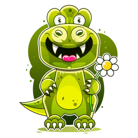 Cute Dinosaur Vector With Grunge Texture For Kids Fashion