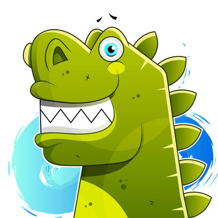 Happy Dinosaur With Good Morning And Happy Day Vector 向量圖像