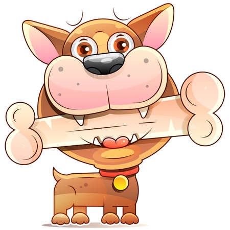 Vector of Cartoon Dog Realistic Sketch Stock Illustration On A Background. For Design, Decoration.