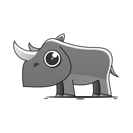rhino logo character idea for child and kid printable stuff and t shirt, greeting card, nursery wall art