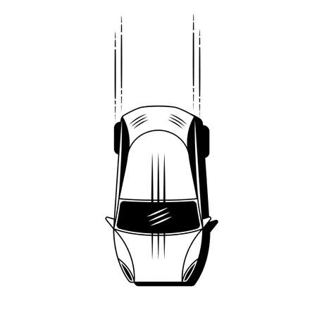 Simple Car Icon Vector. Flat Hatchback symbol. Perfect Black pictogram illustration Illustration