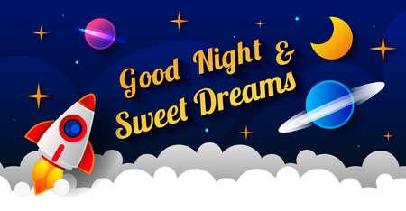 Sweet dreams design, vector illustration eps 10. Art design for web, site, advertising, banner