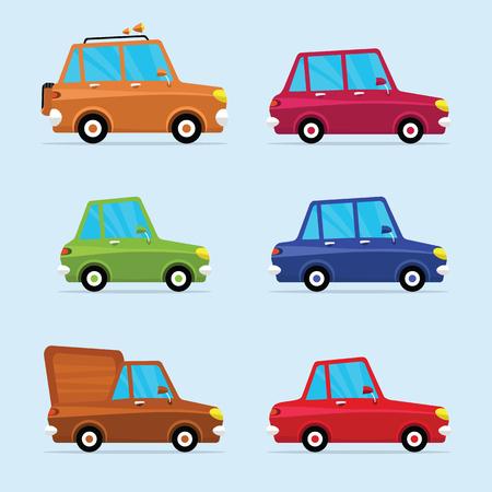 Flat Icon Set van moderne voertuigen, waaronder diverse van Cars Stockfoto - 62325090