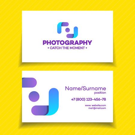 Business card with photography logo on white background used business card with photography logo on white background used for corporate identity photo studio photo reheart Choice Image