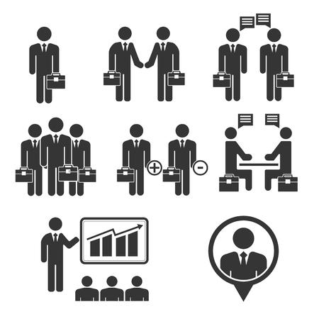 black people: Business people black icon set