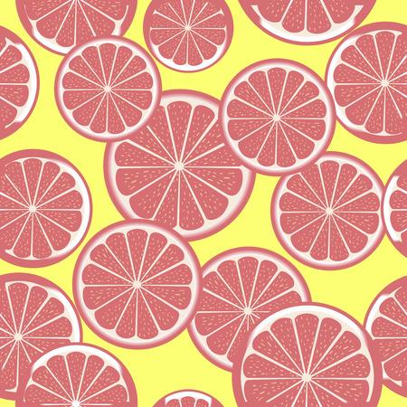 Grapefruit patroon Vector Illustratie