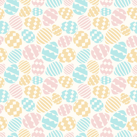 Vector easter eggs seamless pattern cute color style for printing on fabric, scrapbooking, decoration, gift wrap, promotion, banner, greeting card, sale, party poster, stamp, label, special offer