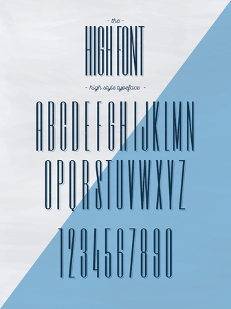Vector high style font modern typography. Alphabet for party poster, t shirt, printing on fabric, promotion, kids book, greeting card, decoration, stamp, label, special offer