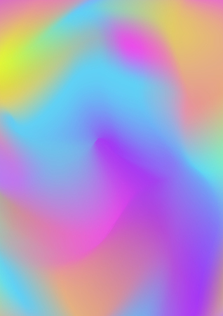Vector holographic gradient background multicoloured for book, printing, poster, billboard, advertisement, cover, packaging, brochure, collage. Modern style trends 80s  90s wallpaper. 10 eps Illustration