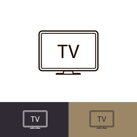 TV icon set flat style isolated on background. Television symbol for web site, logo, app, ui development. Vector 10 eps Foto de archivo - 127692500