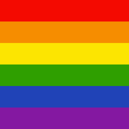 LGBTQ background. Colorful rainbow pride flag, symbol of LGBTQ (lesbian, gay, bisexual, transgender, and questioning). Vector 10 eps 写真素材