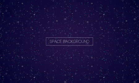 Space backgound for cosmos illustration, web page, motion graphic, cover, poster, invitation, greeting card, promo, print, sale banner. Speed backdrop. Vector 10 eps Ilustração