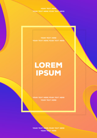 Vector card template abstract liquid modern gradient style background for banner sale, flyer, poster, invitation, print, invitation, special offer. Minimal futuristic fluid cover design 10 eps