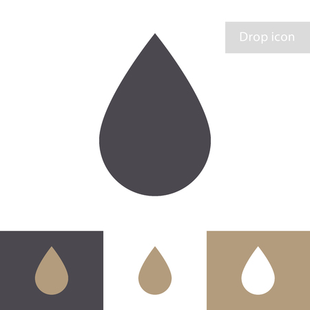 Drop vector icon isolated on different background. Water symbol for ui, mobile app, sign concept, infographic, web site design, logo, blood, aqua. Oil sign 10 eps
