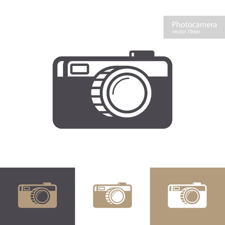 Vector photo camera icon set flat style isolated on background for photography logo, photostudio, photoalbum, photoschool, photoeducation, photolaboratory, food photo, wedding. 10 eps