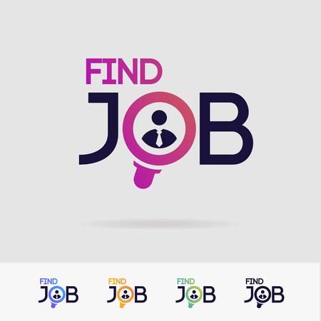 Trouvez l'ensemble de symboles vectoriels d'emploi isolé sur fond blanc pour l'agence de recherche, l'embauche, le site Web de chasseur de têtes, le recrutement, l'agence pour l'emploi, les ressources humaines, le concept de recrutement. Rechercher l'icône de l'homme. Employé signer 10 eps Vecteurs