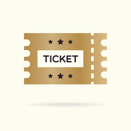 TIcket template vector color flat style isolated on background for live concert, cinema, website, ui, mobile app, music, dance event.