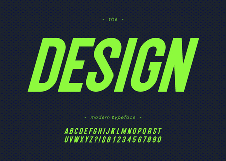 Vector design font bold slanted style modern typography for decoration, industrial, logo, poster, t shirt, book, card, sale banner, printing on fabric. Cool 3d typeface. Trendy alphabet.
