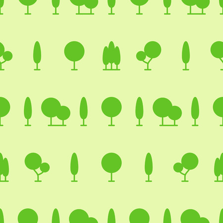 vector tree seamless pattern on green background for natural product store, , nature cosmetics, ecology company, naturally firm, organic shop, alternative medicine, green unity, farming. Imagens