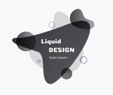 Abstract fluid banner black color. Liquid geometric banner flat style isolated minimal futuristic dynamic shape for background, logo, presentation, flyer, poster, web, print, social post vector Imagens
