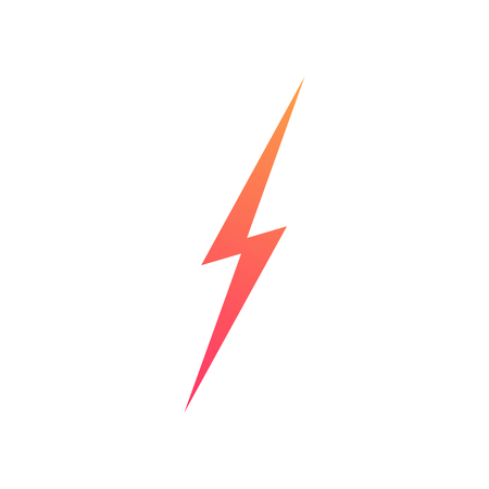 Lightning bolt vector icon isolated on background for energy, electric power logo, wireless charging, ui, poster, t shirt. Thunder symbol. Storm pictogram. Flash light sign. Versus symbol