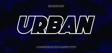 Vector font bold italic style