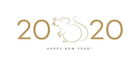Happy New 2020 Year gold backgound