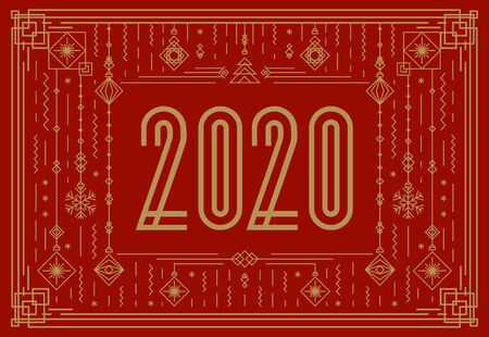 Happy New Year banner concept Иллюстрация