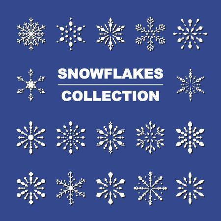 vector christmas snowflake set cute style