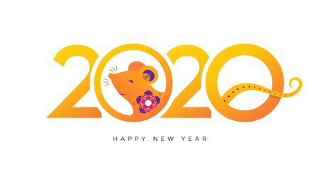 2020 New Year banner colorful style Archivio Fotografico - 134344156