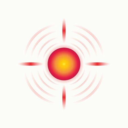 pain red circle symbol