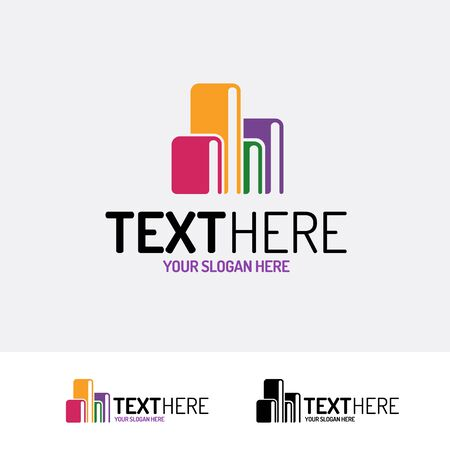 Book vector modern color style