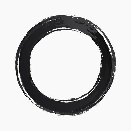Ring watercolor texture black color Illustration