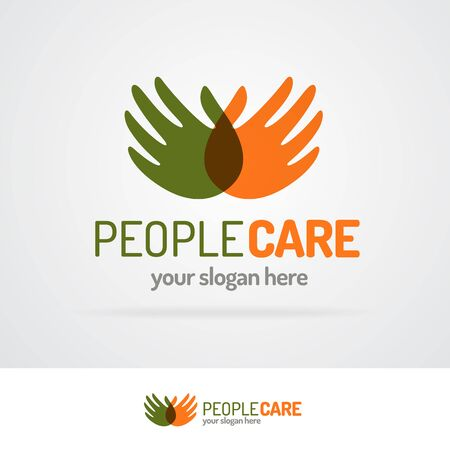 People care  with hands Illustration