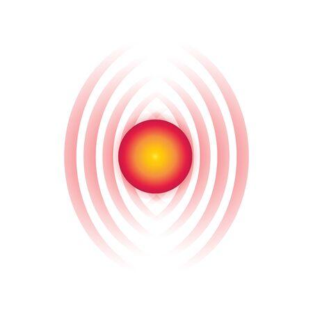 Pain symbol isolated on white background