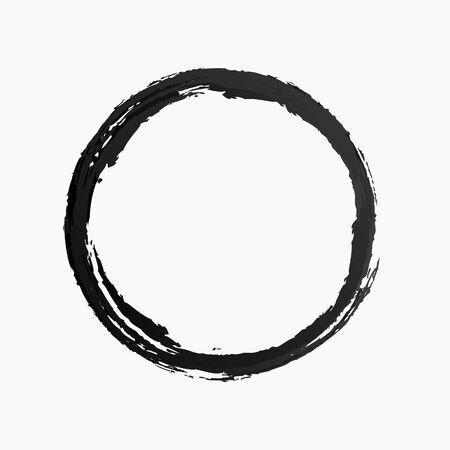 Vector ring watercolor texture black color Illustration