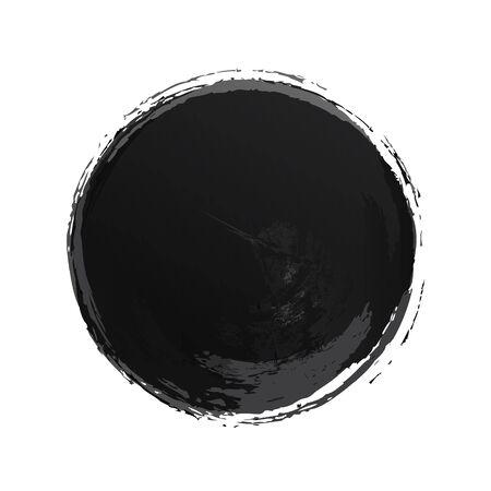 Vector circle watercolor texture black color