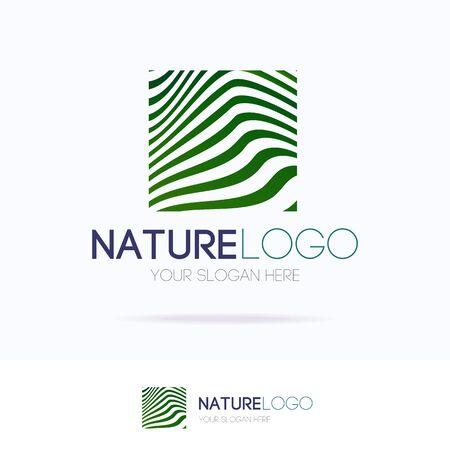Vector natural logo motion gradient line