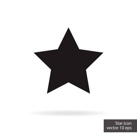 Star rating status isolated on white background