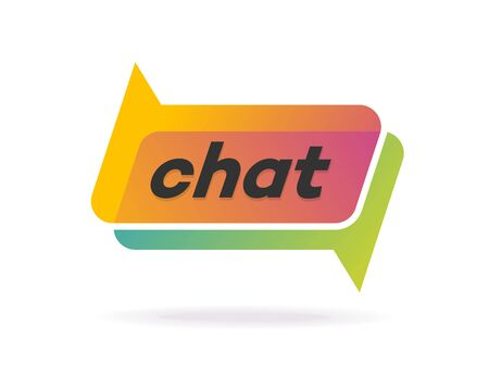Chat gradient style isolated on background