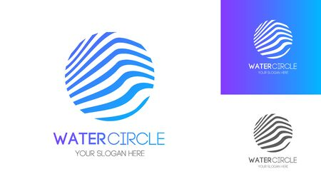 Abstract water circle modern style