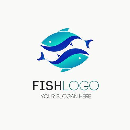 Fish logotype vector