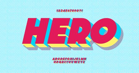 Hero font 3d bold style