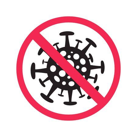Sign Stop Coronavirus - concept illustration Illustration