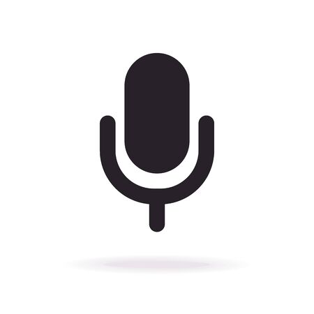 Vector microphone icon flat style Illustration